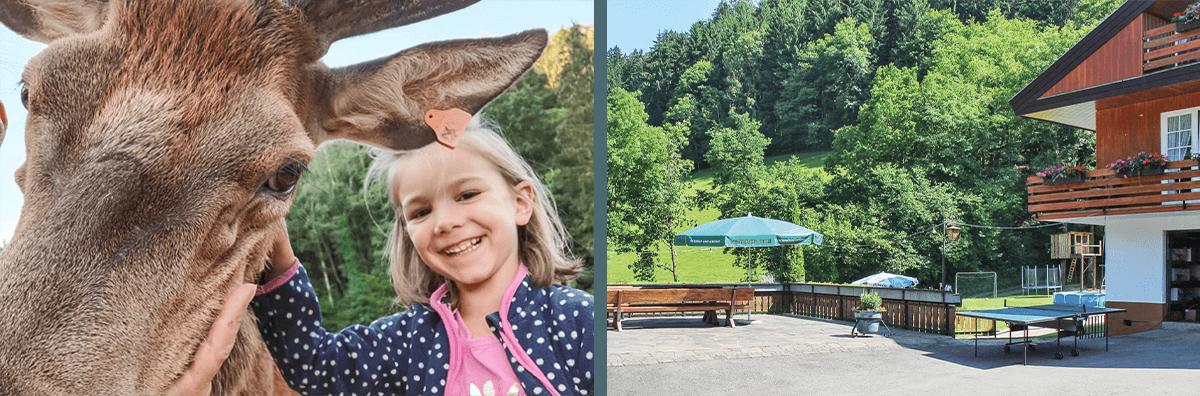 Abenteuerurlaub für Kinder in den Ferienwohnungen auf dem Josenhof