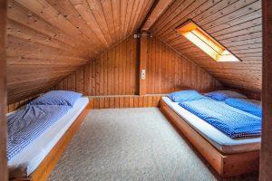 Schlafzimmer im Jagdhaus